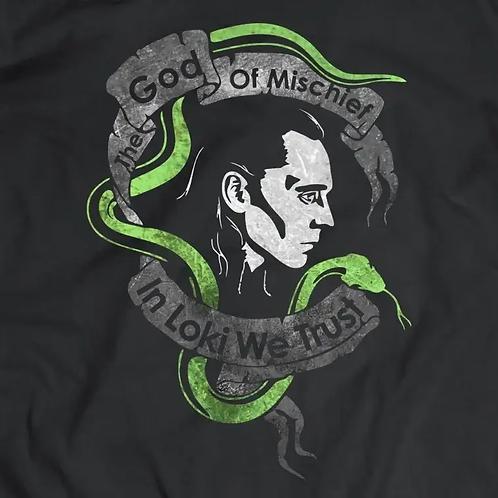 Avengers: Loki God of Mischief Short Sleeve T-Shirt