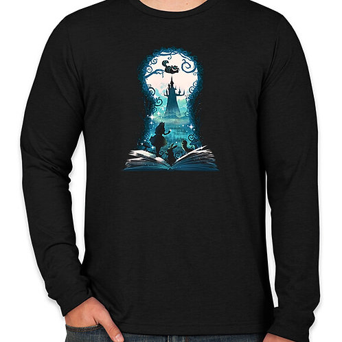 Alice in Wonderland Keyhole Long Sleeve Long Sleeve T-Shirt