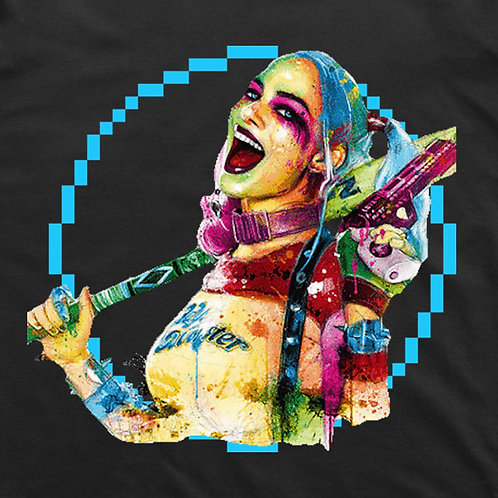 Harley Quinn Pixel (Black) T-Shirt