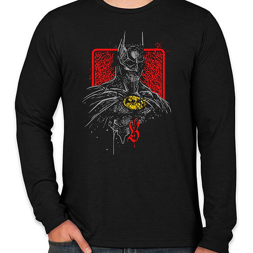 Grunge Batman Long Sleeve Long Sleeve T-Shirt