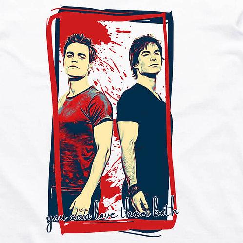 Vampire Diaries: Salvatore Brothers Short Sleeve T-Shirt
