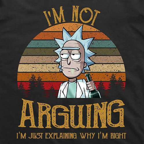 Rick and Morty: Not Arguing Short Sleeve Shirt