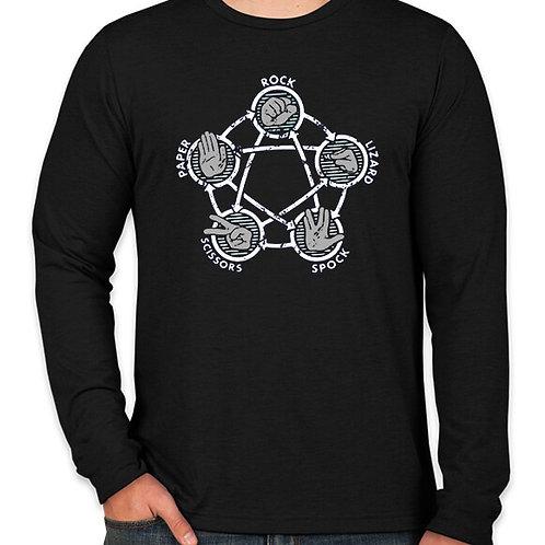 Big Bang Theory: Rock Paper Spock Long Sleeve Long Sleeve T-Shirt