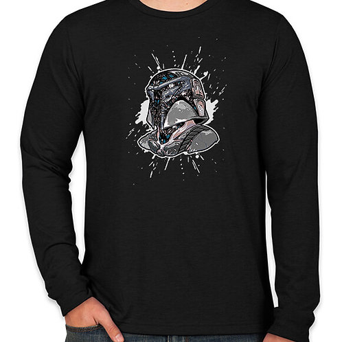 Star Wars Techno Mandalorian  Long Sleeve Long Sleeve T-Shirt