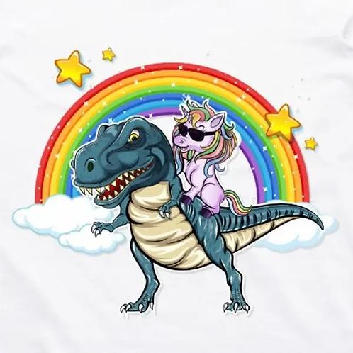 Unicorn T-Rex Short Sleeve T-Shirt