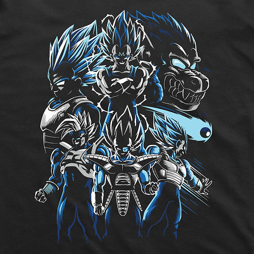 Dragonball: Vegeta Collection Short Sleeved T-Shirt