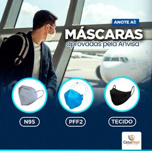 Máscaras aprovadas pela ANVISA em voos