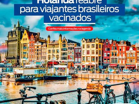 Holanda reabre para viajantes brasileiros vacinados