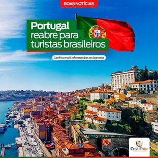 Portugal reabre para turistas brasileiros