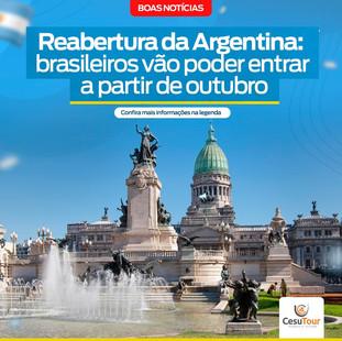 Brasileiros vão poder entrar na Argentina a partir de Outubro