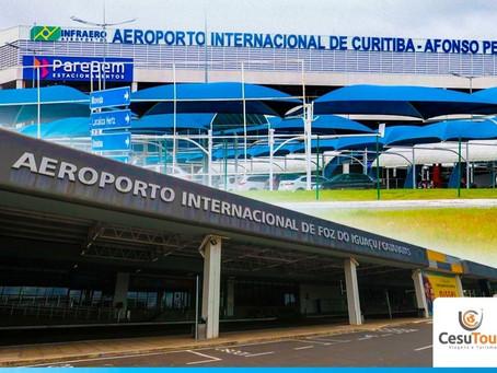 Aeroportos de Curitiba e Foz do Iguaçu terão voos diretos para EUA e Europa