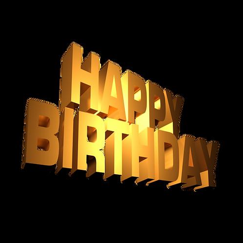 Lips Drag Show Happy Birthday
