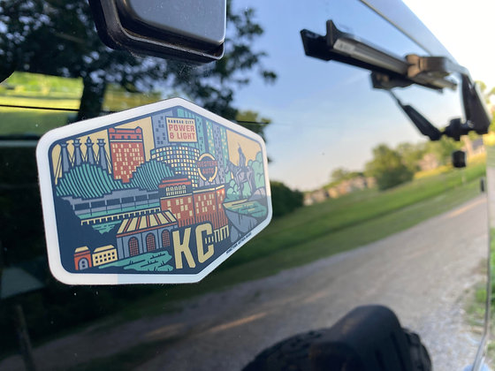 KC Backdrop Travel Sticker