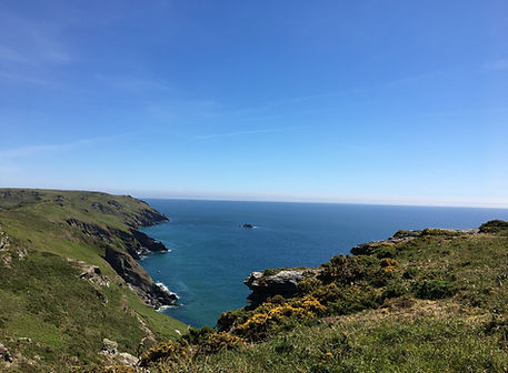 View out to sea from Bolberry Down .JPG