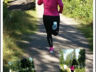 Härlig morgon med stark löpare