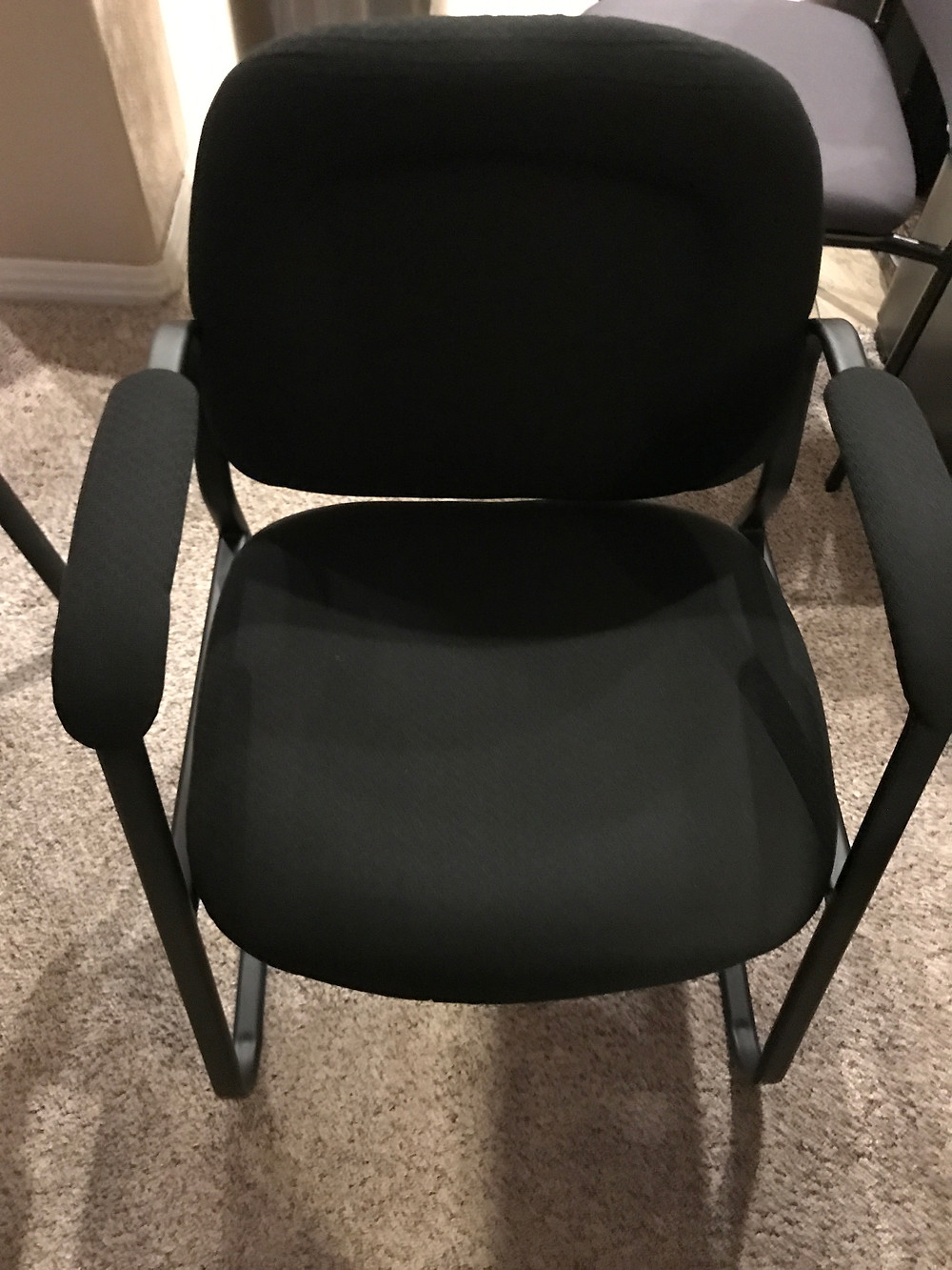 Stationary Padded Arm Office Chair
