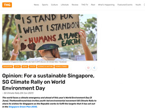 Opinion: For a sustainable Singapore, SG Climate Rally on World Environment Day