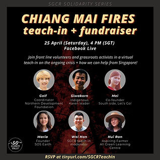 Chiang Mai Fires teach-in and fundraiser by SG Climate Rally