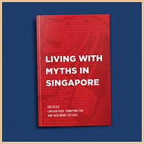 Cover art of living with myths in Singapore