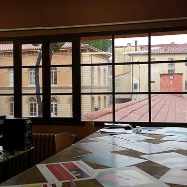 Vista su un'ala dell'Istituto con le aule di Arte del Vetro