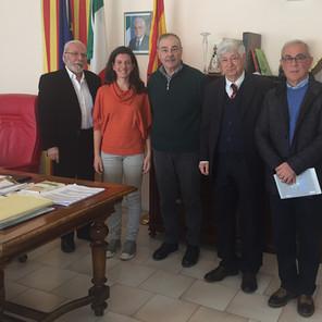 Nella foto da sinistra verso destra: prof. Roberto Puzzu, dottoressa Ornella Piras, Vittorio Martini, On. Carlo Carli, professor Antonio Uda.
