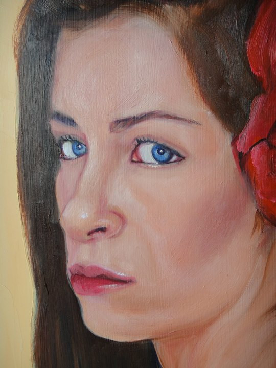 Portrait Painting, Veronica (detail)._ww