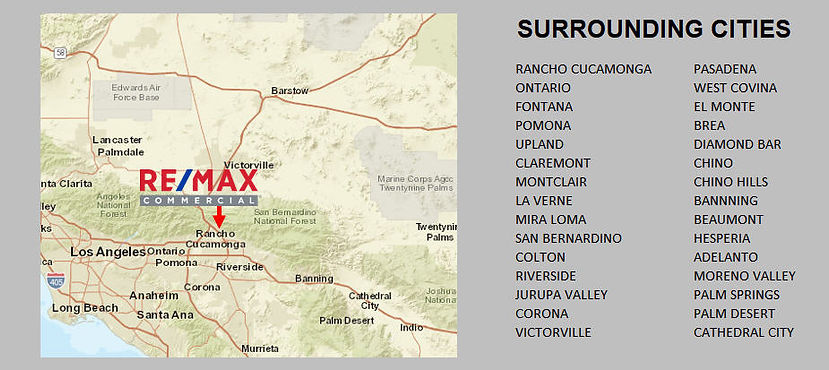 Service areas for RE/MAX TIME Commercal