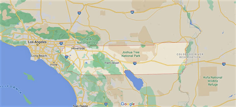 map of riverside county in southern california