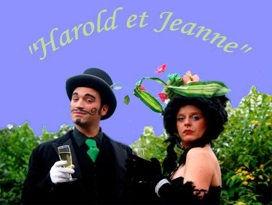 Harold et Jeane, deux échassiers très distingués.  Un Spectacle du cirque Farrago.