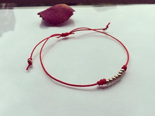 Pulsera Hilo Rojo 7 días Baño de Oro - Joyas de Mujer para Regalar