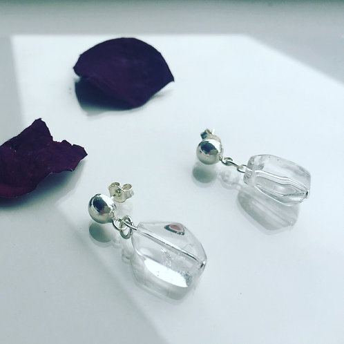 Aro Piedra Cuarzo Cristal Corto para Mujer