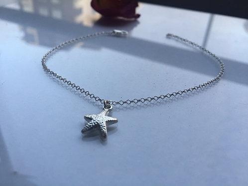 Tobillera Estrella de Mar en Plata - Moda Joven