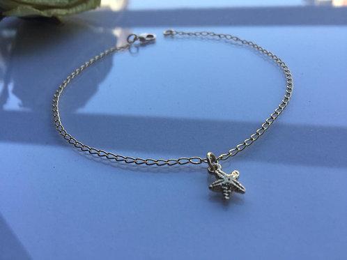 Tobillera Estrella de Mar Gold Filled - Joyas de Moda