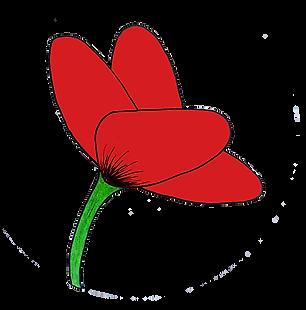 Logo de en vert et rouge réalisé par Morgane Grébert