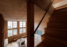 大阪狭山の注文住宅 | 大阪 | Cooplanning | 大阪狭山市 狭山の家 塔屋への階段から