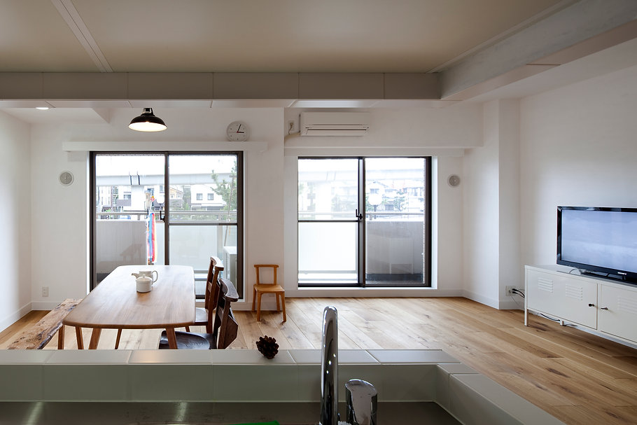 神戸のマンションリフォーム | 神戸市 | Cooplanning | 住吉川の家 リビングダイニング
