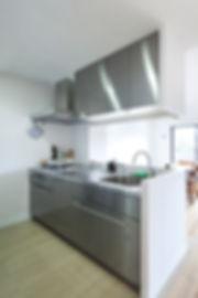 神戸のマンションリフォーム | 神戸市 | Cooplanning | 住吉川の家 オーダーキッチン.ステンレスキッチン