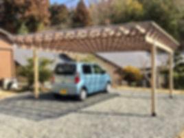 住宅リノベーション 大阪 | 大阪 | Cooplanning | 東大阪市龍間 生駒山荘の別荘 木製トラスガレージ