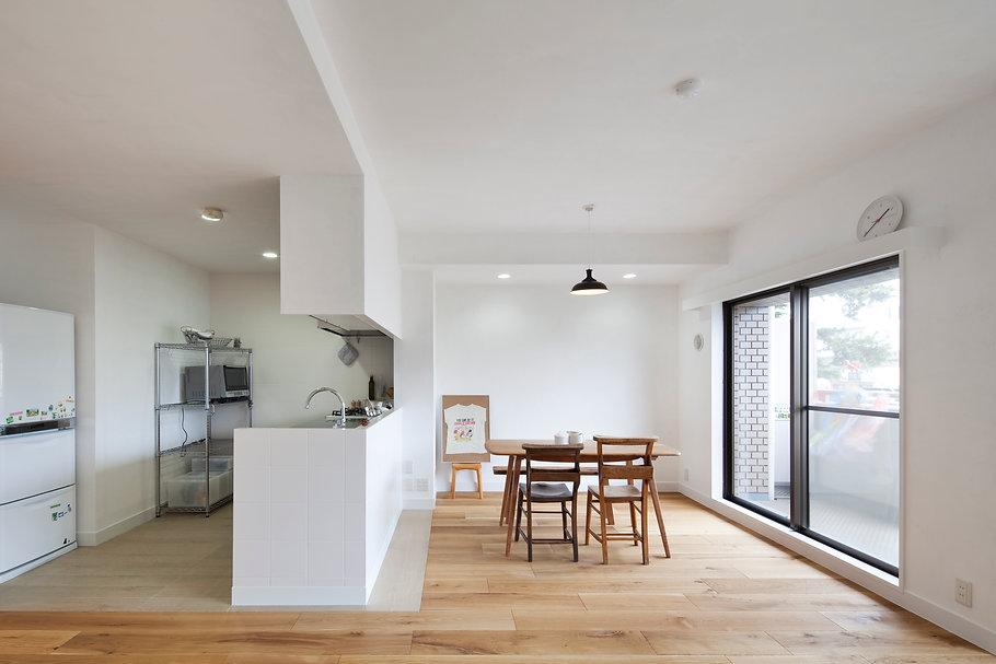 神戸のマンションリフォーム | 神戸市 | Cooplanning | 住吉川の家 オーダーキッチン.ダイニング