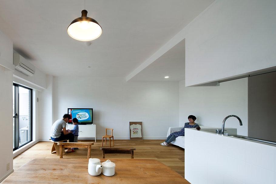 神戸のマンションリフォーム | 神戸市 | Cooplanning | 住吉川の家 リビング