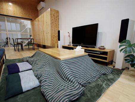 大阪のコートハウス設計。統一感のあるインテリアデザイン。
