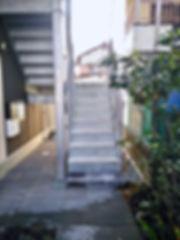 新社屋の設計 大阪 | 大阪 | Cooplanning | 尼崎市大西町 尼崎のオフィス アプローチ鉄骨階段