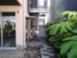 新社屋の設計 大阪 | 大阪 | Cooplanning | 尼崎市大西町 尼崎のオフィス アプローチ.植樹グリーンスペース