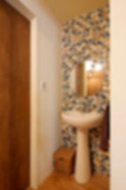 大阪市の住宅リフォーム | 大阪市 | Cooplanning | 大阪市中央区 空堀の注文住宅 1階洗面.トイレ