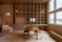 大阪狭山の注文住宅 | 大阪 | Cooplanning | 大阪狭山市 狭山の家 2階リビング壁面本棚