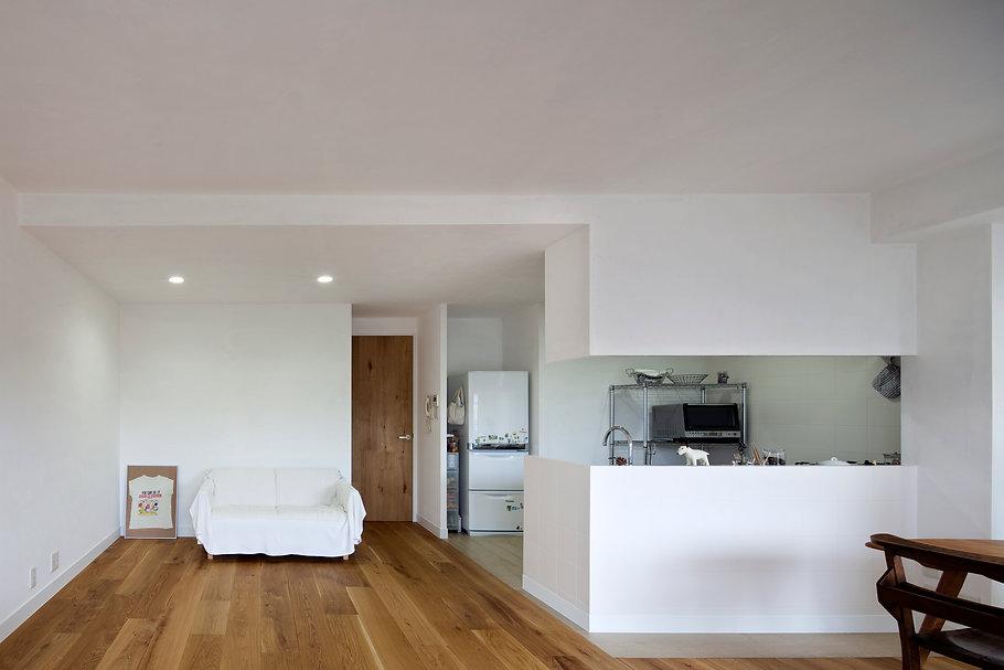 神戸のマンションリフォーム | 神戸市 | Cooplanning | 住吉川の家 オーダーキッチン.リビング