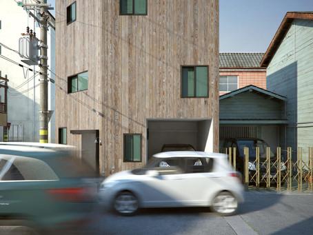 角地の狭小地の住宅設計