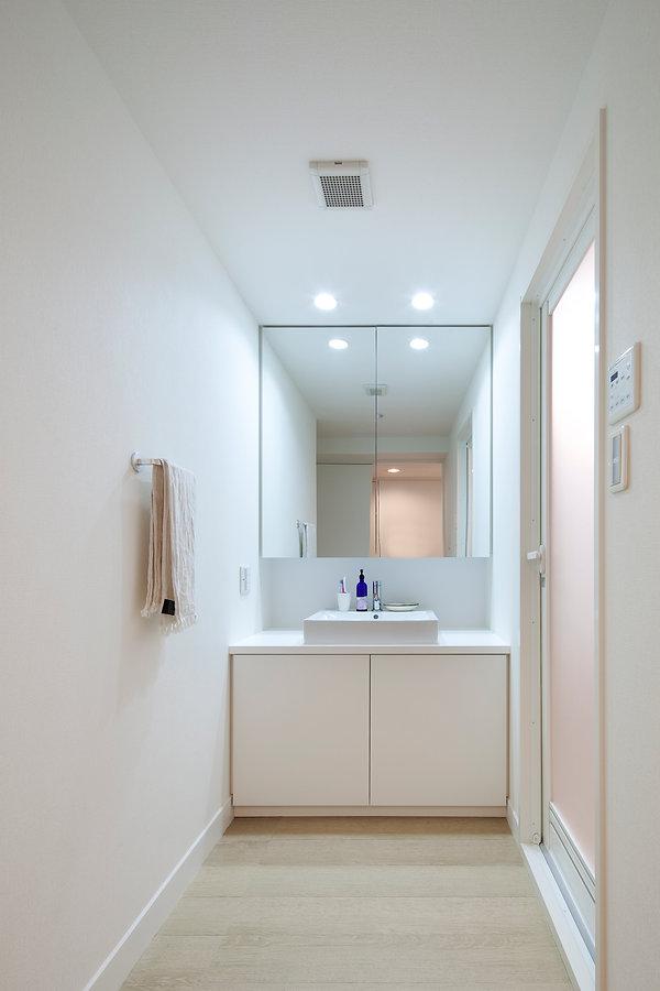 神戸のマンションリフォーム | 神戸市 | Cooplanning | 住吉川の家 家具工事.洗面化粧台