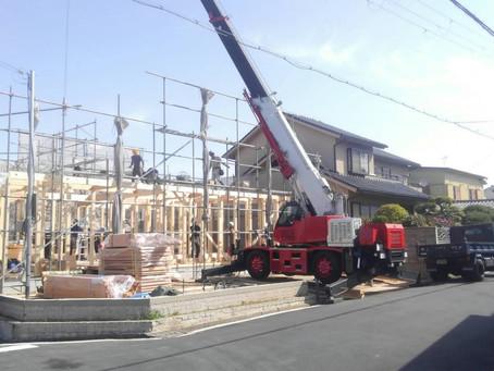 大阪 羽曳野の住宅 設計監理:上棟