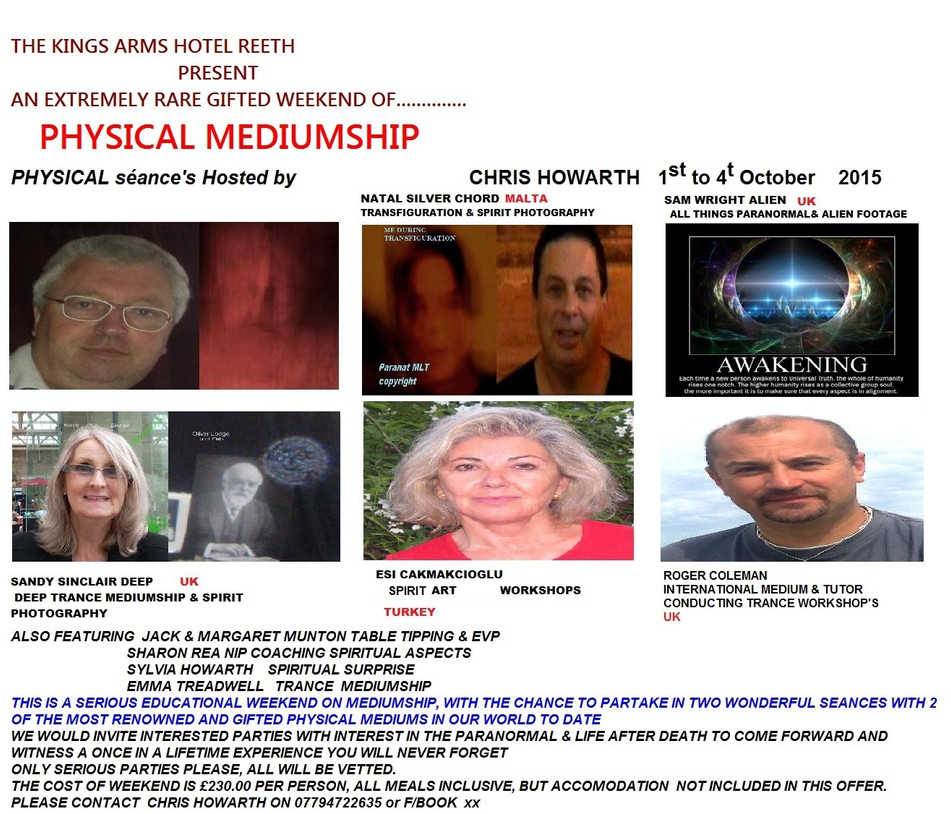 PHYSICAL MEDIUMSHIP SEMINAR IN NORTH YORKSHIRE